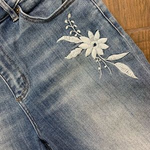 Loft Embroidered Skinny Jeans